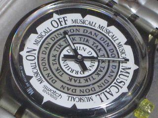 Swatch Musicall Salsa Slm104 Slm105 Philip Glas Armbanduhr Batt.  Ovp Top Bild