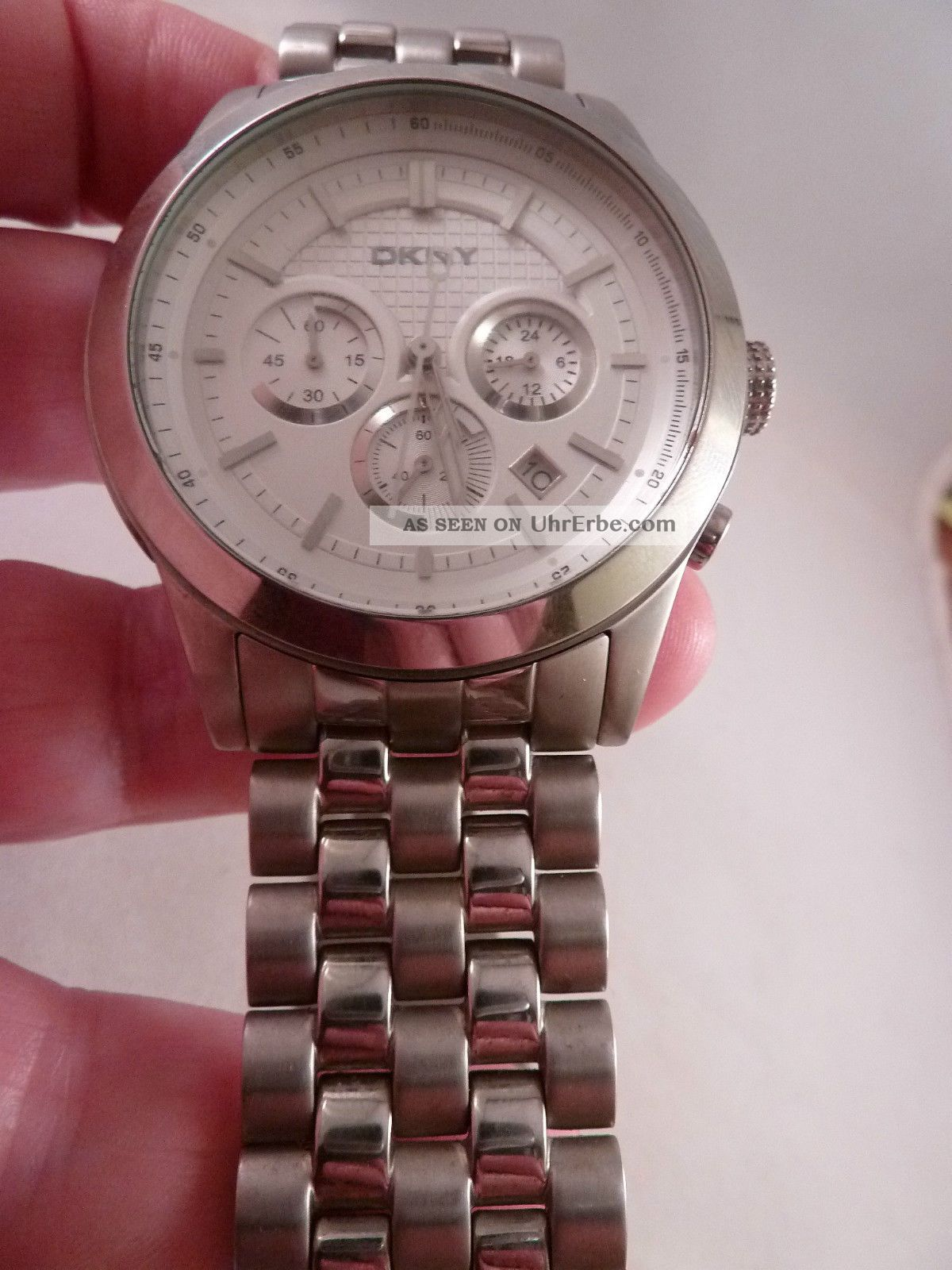 Dkny Ny 1421 Herren - Chronograph,  Edelstahl,  Datum,  Sekundenzeiger,  Stopp Funktion Armbanduhren Bild