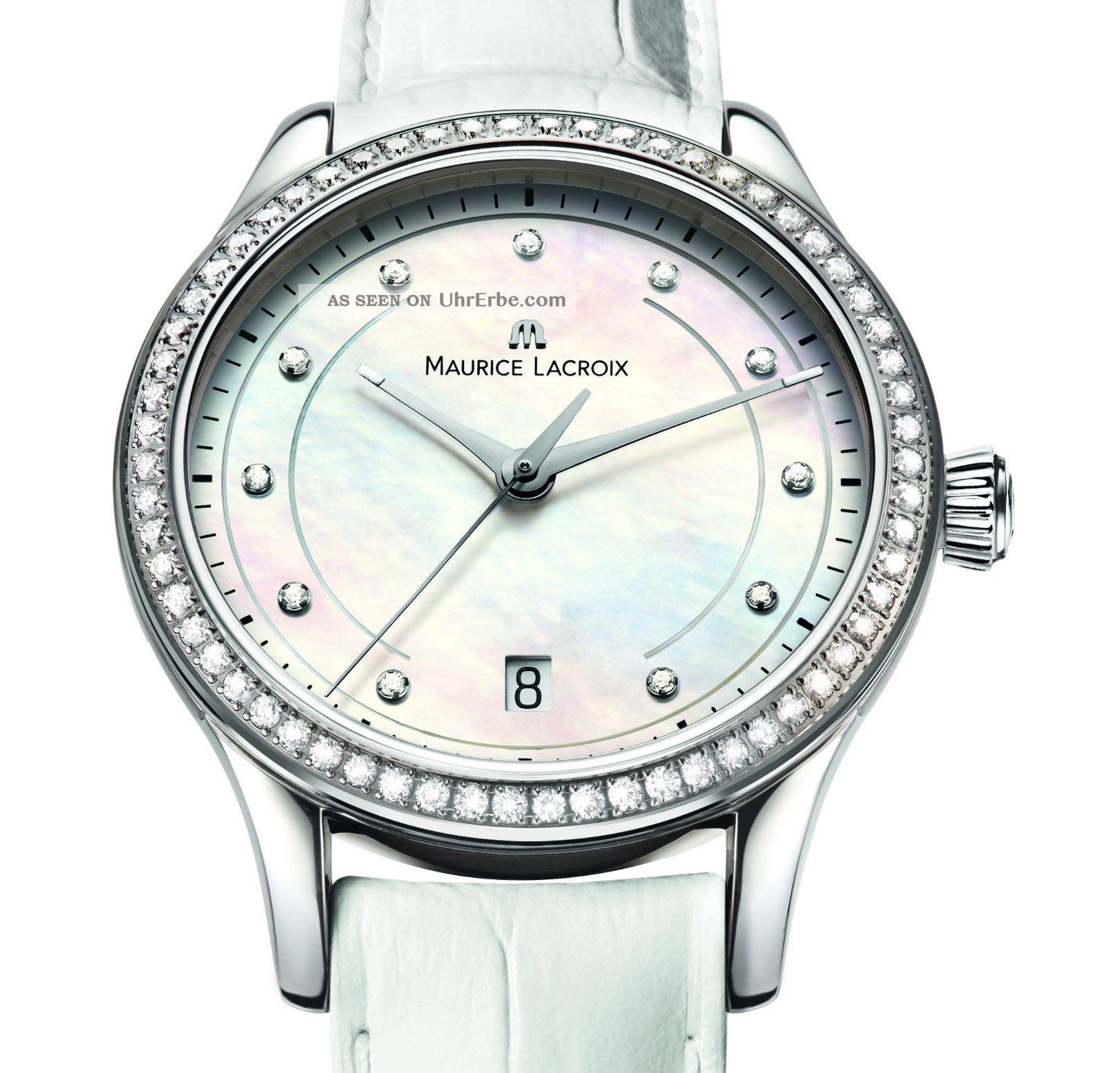 Maurice Lacroixdamenuhr Classic Mit Diamantluenette Armbanduhren Bild