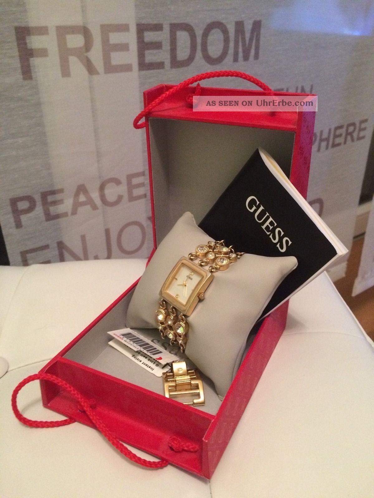 Guess Damenuhr Gold Armbanduhren Bild