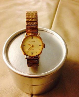 Dugena Vergoldet Damenuhr Armband Uhr Frauen Bild
