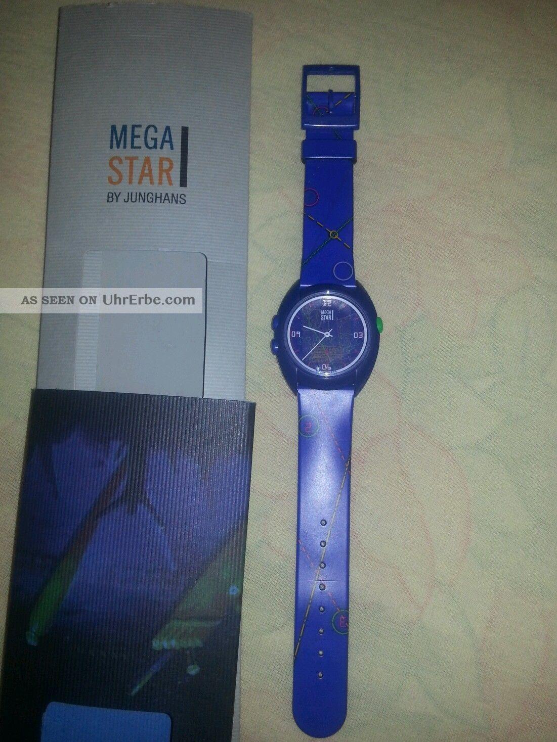 Junghans Mega Star Funkuhr Armbanduhren Bild