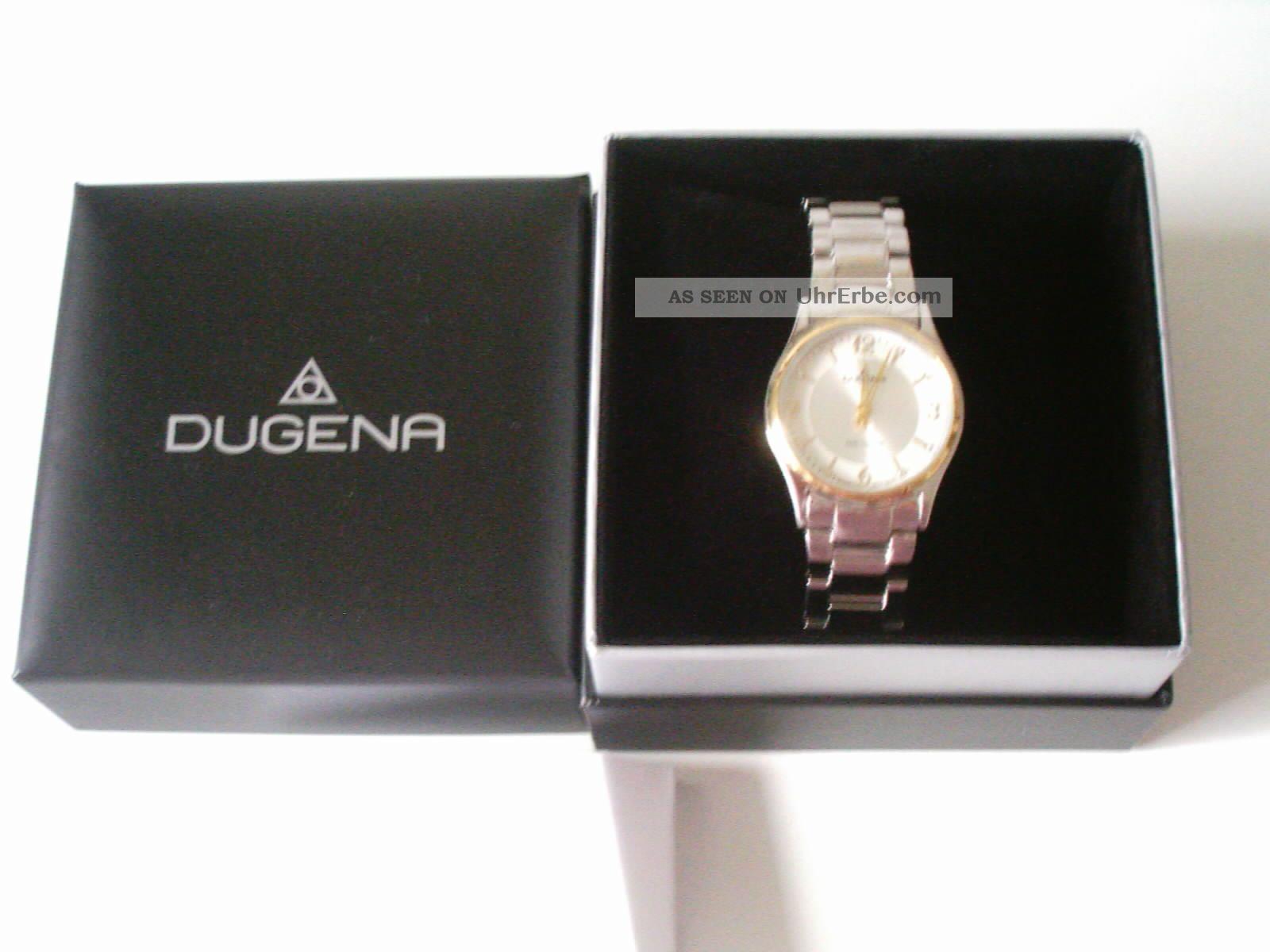 Dugena Damen Armbanduhr Funkuhr 4460553 Edelstahl Armbanduhren Bild