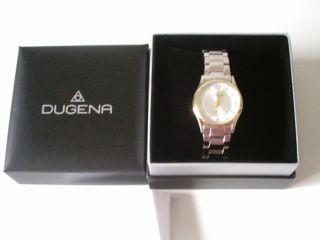 Dugena Damen Armbanduhr Funkuhr 4460553 Edelstahl Bild