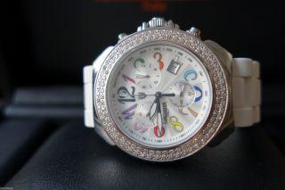 Neue Edle SchÖne Lancaster Italy Damen Uhr Mit 0,  94 Brillanten Diamanten Bild