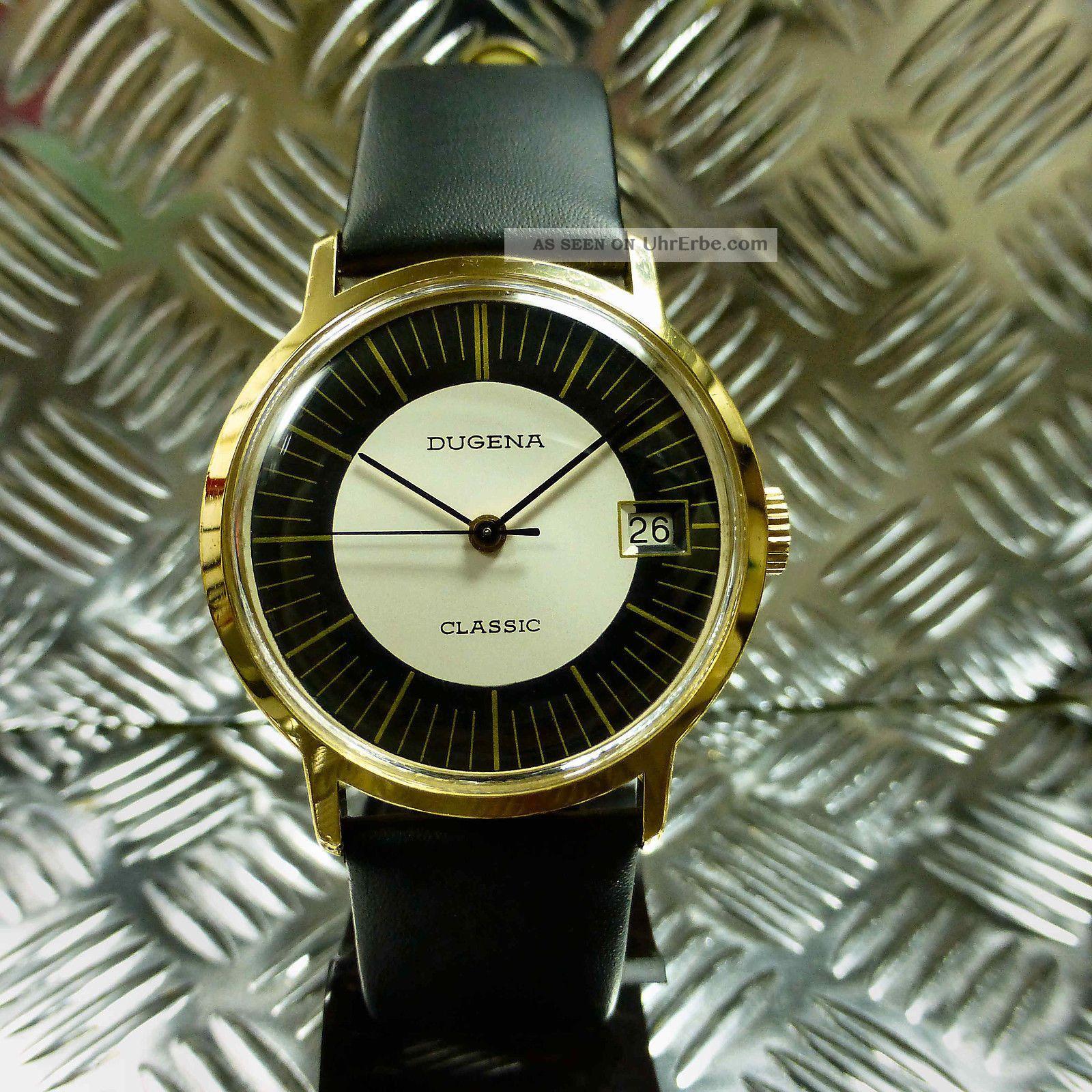 Vintage Top Echte 70èr Jahre Dugena Classic Handaufzug Herren Armbanduhr Armbanduhren Bild