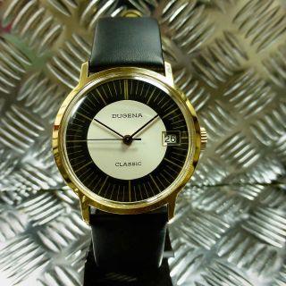 Vintage Top Echte 70èr Jahre Dugena Classic Handaufzug Herren Armbanduhr Bild