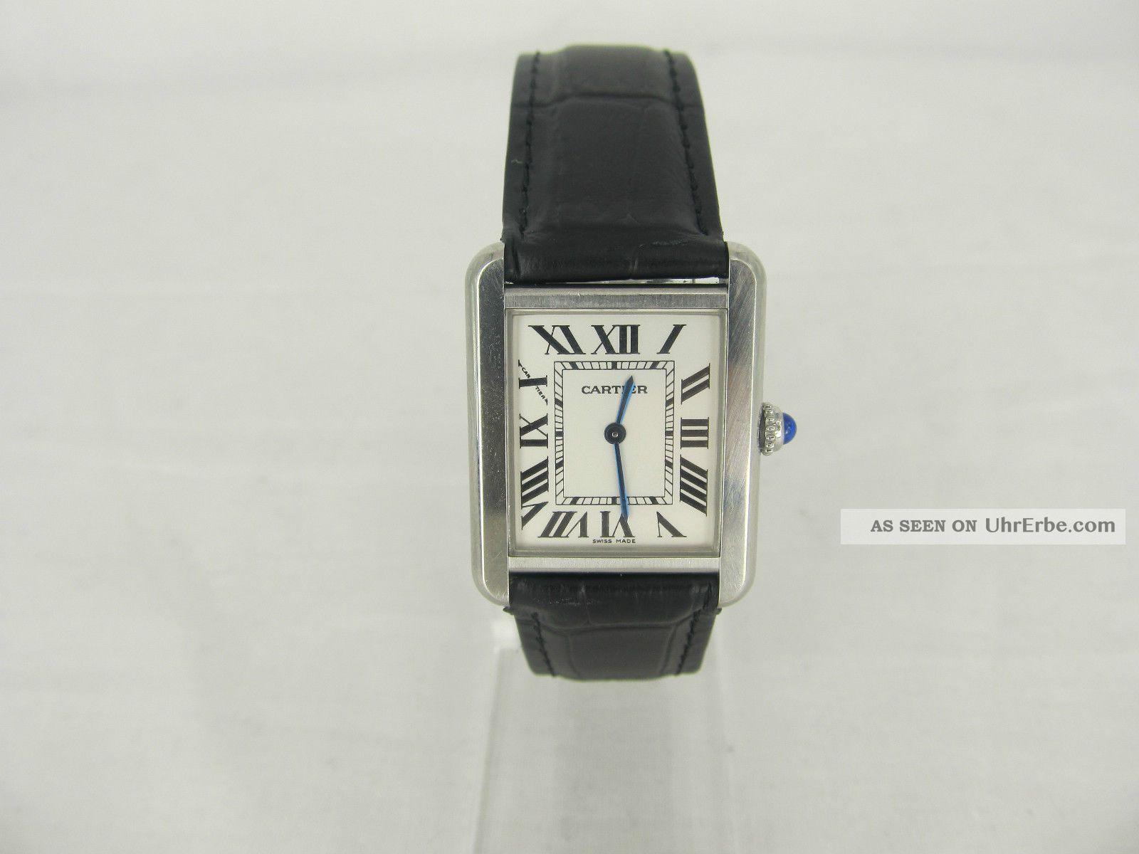 Cartier Tank Solo Damenuhr Ref: 2716 Armbanduhren Bild