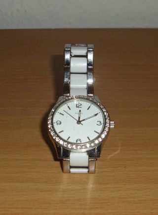 Damen Armbanduhr Tcm - Silber/weiß - Sehr Gepflegt Bild