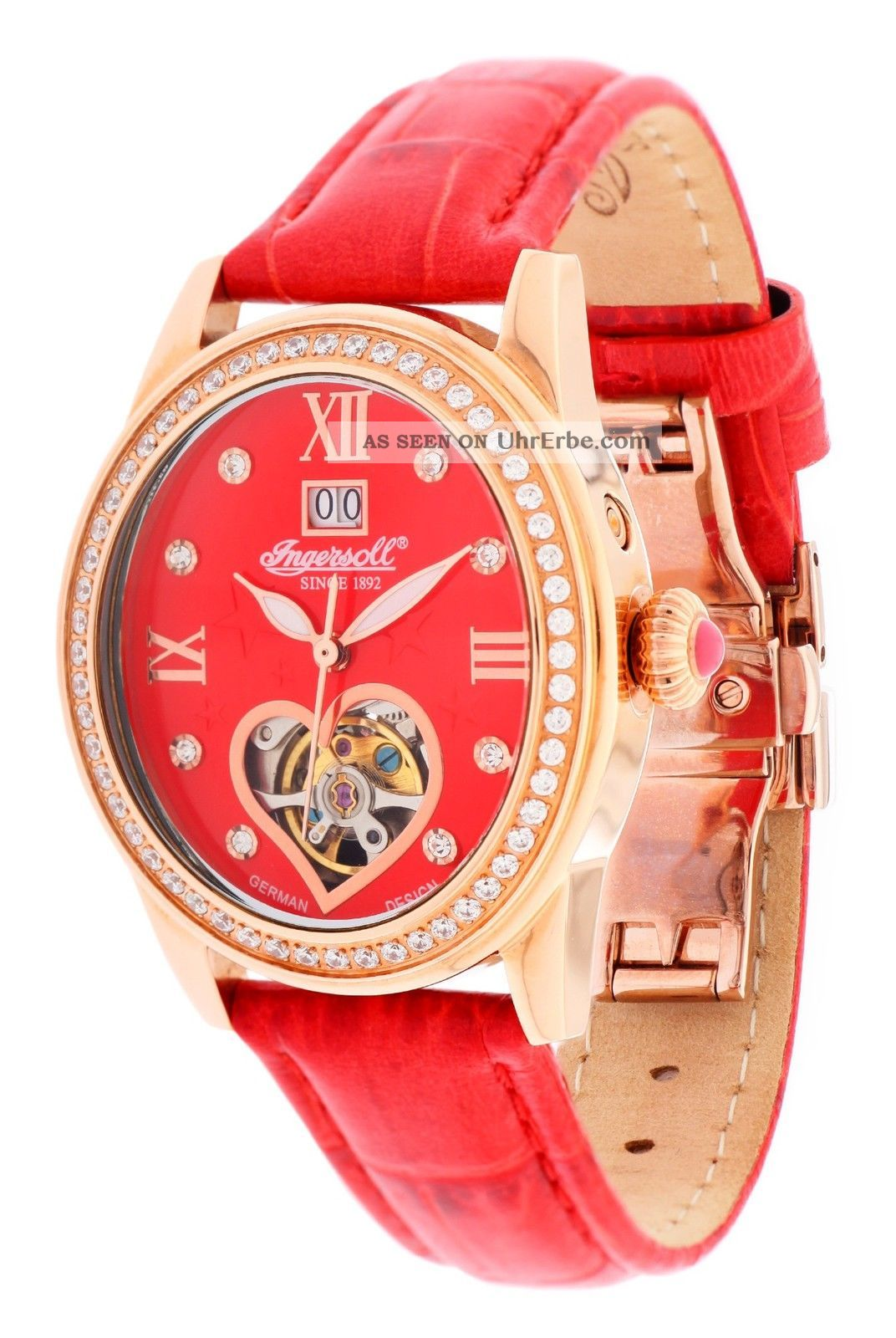 Ingersoll Damen Armbanduhr Punca Limited Edition Rot In5011rrd Armbanduhren Bild