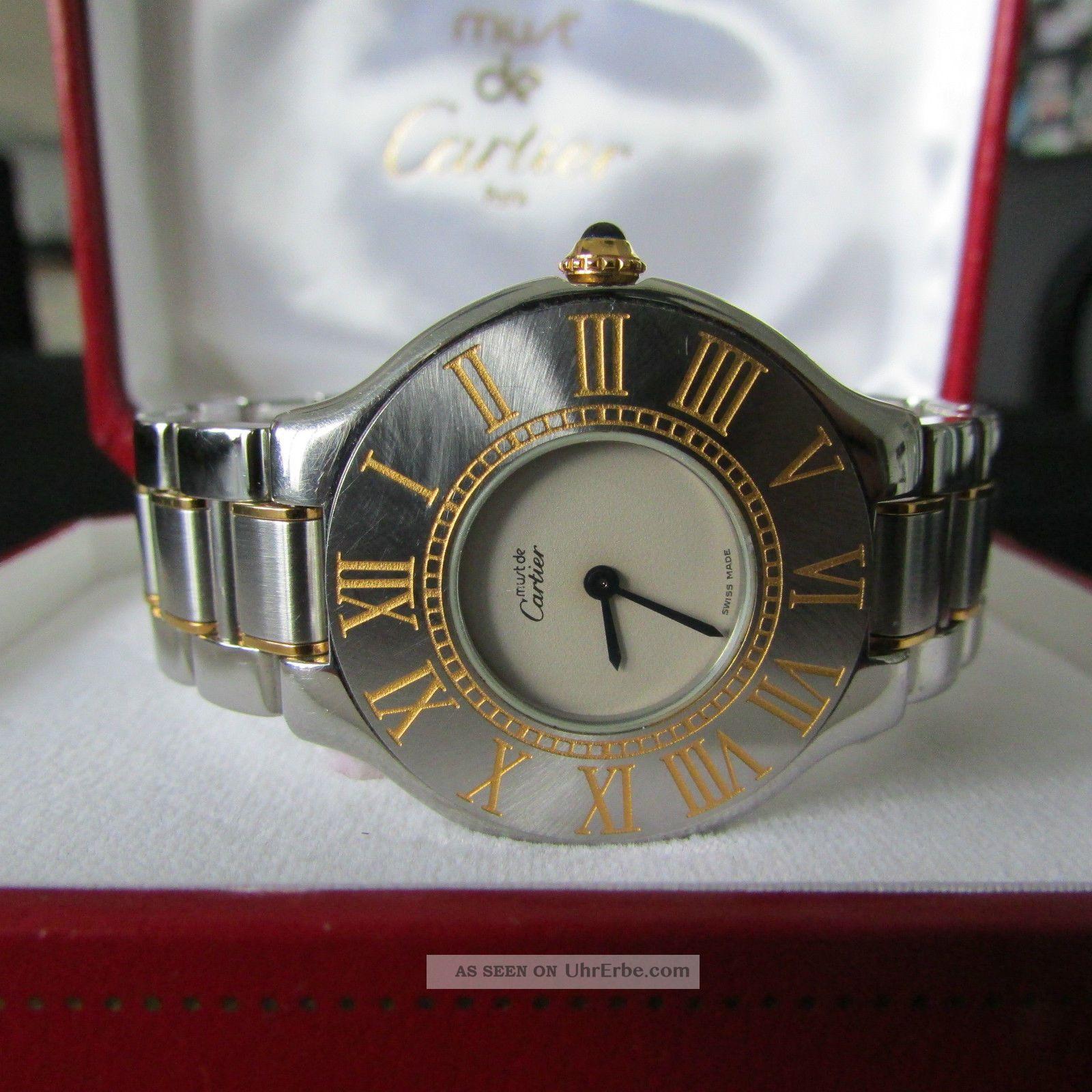 Armbanduhr Cartier Must21 Stahl / Gold Damenuhr Armbanduhren Bild