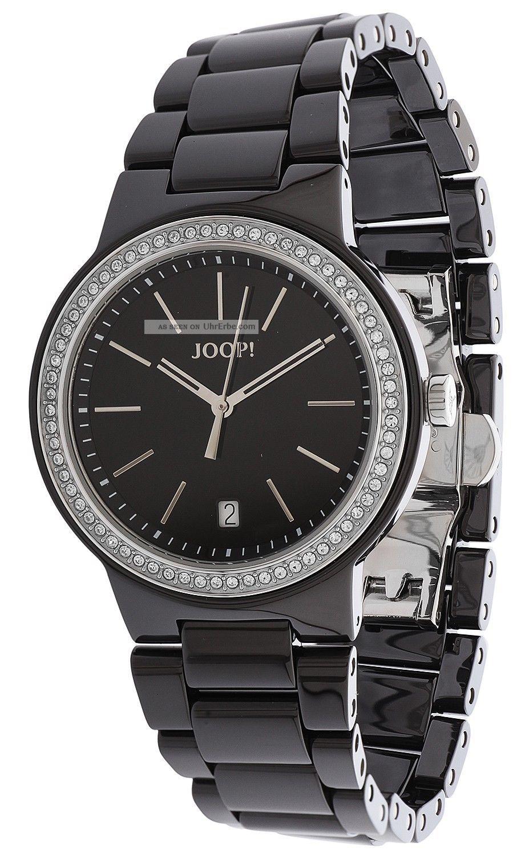Joop Damen Armbanduhr Sensation Keramik Schwarz Jp100792f01 Armbanduhren Bild