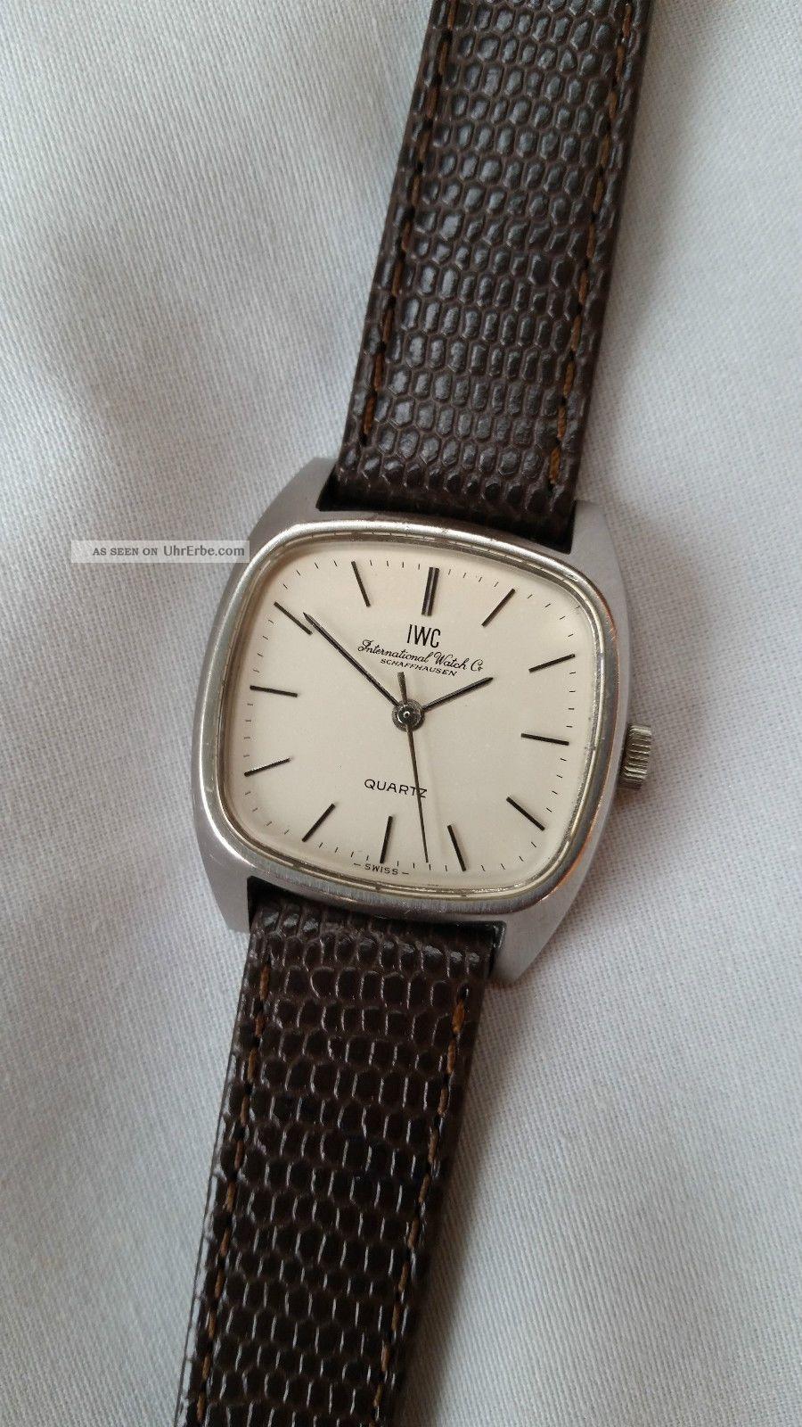 Iwc Edelstahl Quartz Damen Klassisch Schön Ca.  1980er Jahre Armbanduhren Bild