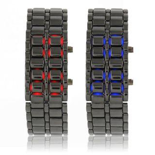 Led Digital Armband Uhr Herren & Damen Armbanduhr Quarzuhr Mit Edelstahlarmband Bild