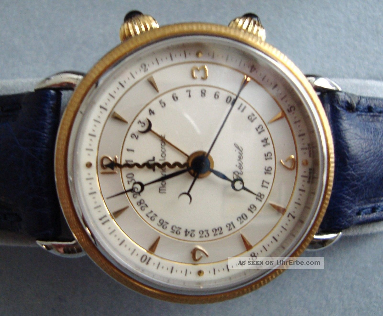 Maurice Lacroix Masterpiece Reveil 18k Gold Ref 63511,  Ovp,  S.  G.  E Armbanduhren Bild