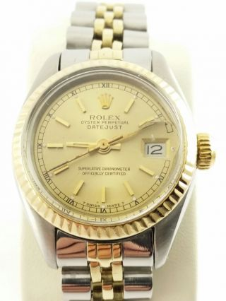 Rolex - Oyster - Perpetual - Datejust - Damen - Armbanduhr - 18 Karat Gold Bild
