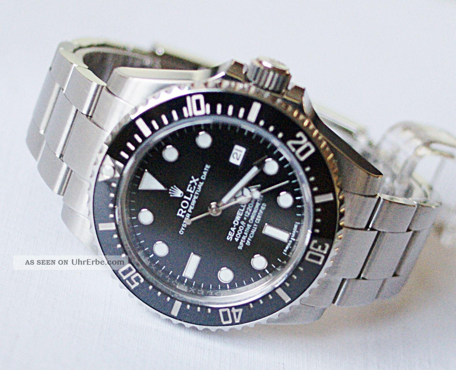 Rolex Sea Dweller 116600 Aus 11/2014 Mit Box Und Papieren Armbanduhren Bild