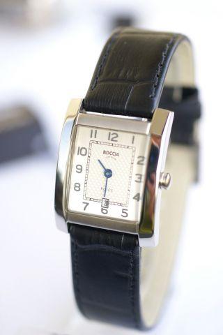 Bocci Damen - Uhr Reintitan; Mit Lederband,  Datumsanzege,  3141 - 01 Bild