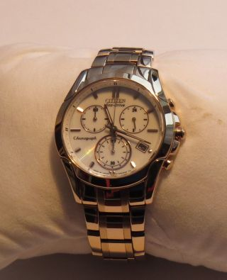 Citizen Eco - Drive Rose Gold Damen Chronograph 35mm Minaral Glas Fb 1153 - 59a Bild