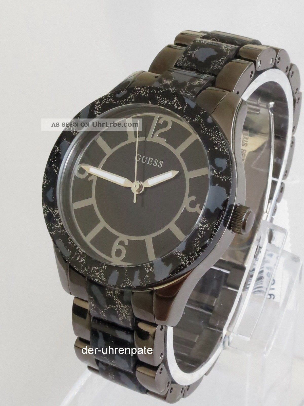 Guess Damenuhr / Damen Uhr Edelstahl Leoparden Look W0014l3 Armbanduhren Bild