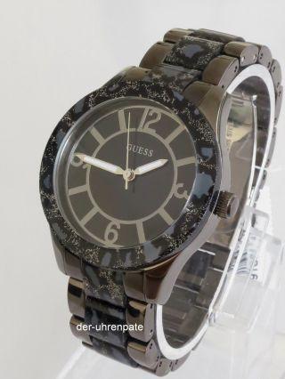 Guess Damenuhr / Damen Uhr Edelstahl Leoparden Look W0014l3 Bild
