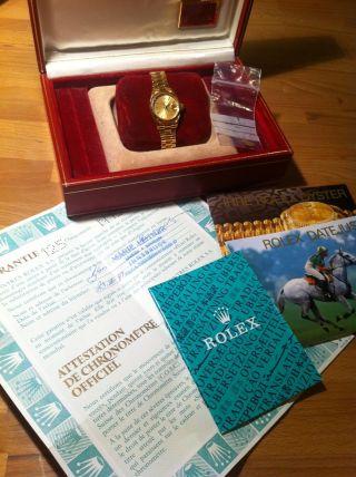 Rolex Oyster Perpetual Datejust Damen Armbanduhr 18 Karat Gold 69178 Bild