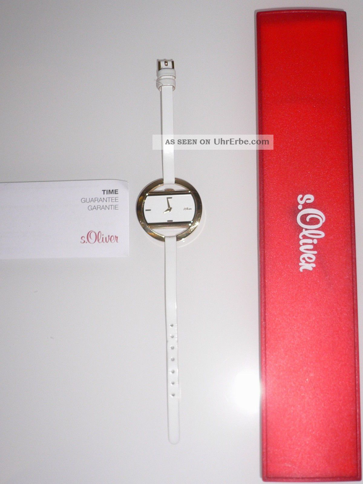 S Oliver Uhr Damenuhr So - 1240 - Lq Weiß Gold Elegant Armbanduhr Markenuhr Blogger Armbanduhren Bild