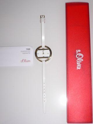 S Oliver Uhr Damenuhr So - 1240 - Lq Weiß Gold Elegant Armbanduhr Markenuhr Blogger Bild