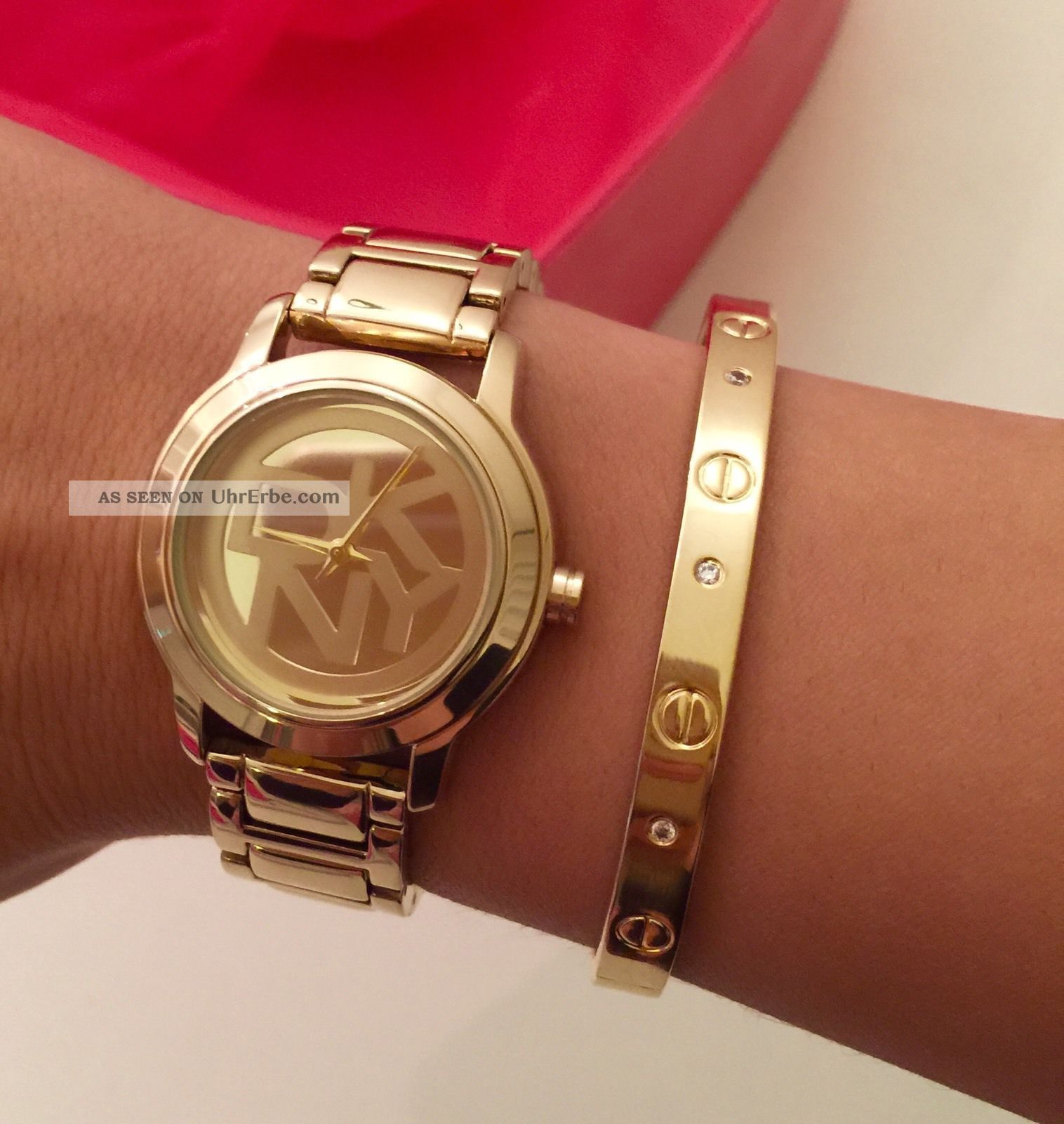 Dkny Damenuhr Gold Ovp Ny8876 Armbanduhren Bild