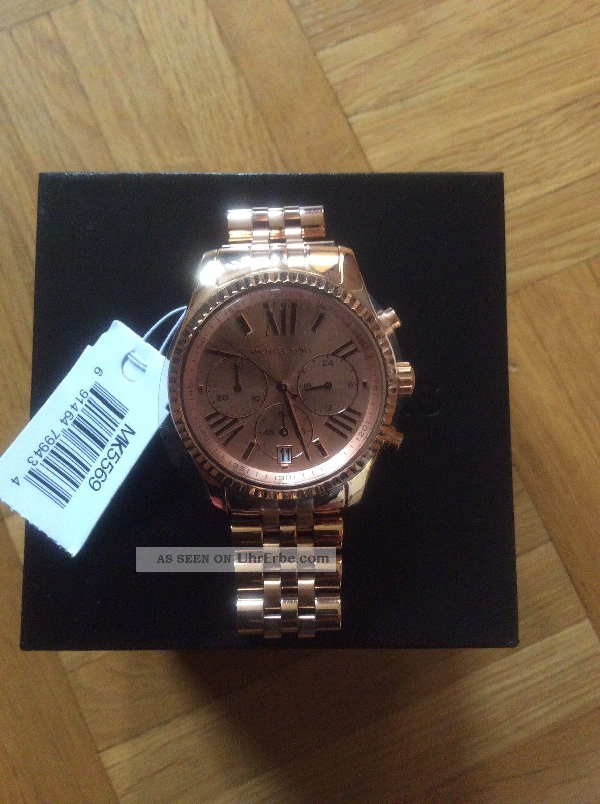 Michael Kors Mk 5569 Rosegold Mit Armbanduhren Bild