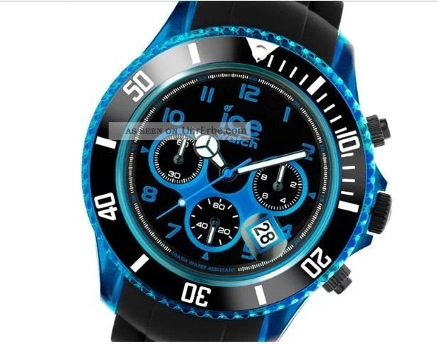 Ice - Watch Chrono Electric Blue Big Big Ch.  Kbe.  Bb.  S.  12 Armbanduhr Armbanduhren Bild