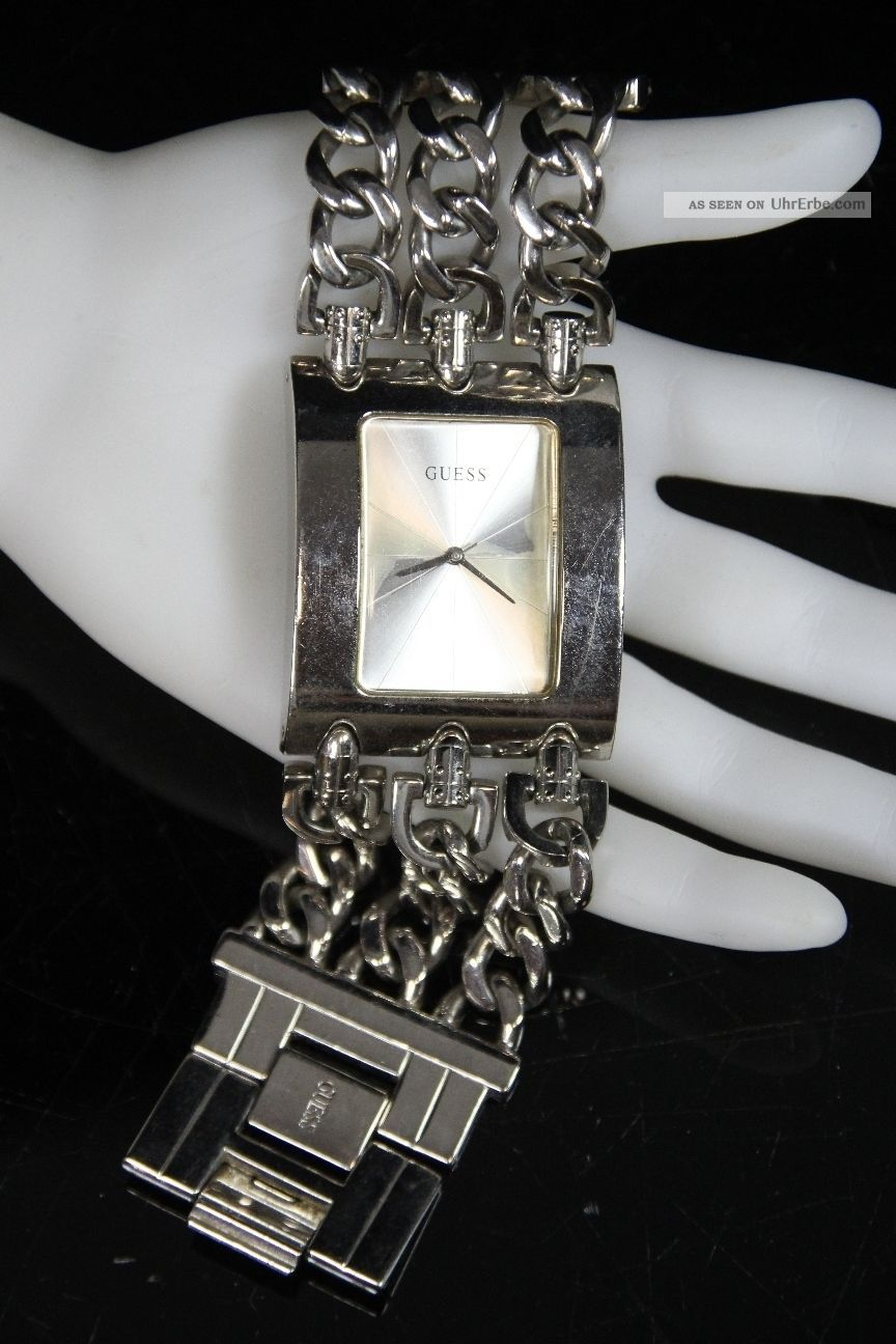 Schöne Guess 195194l1 Damenarmbanduhr Damenuhr Quarz Armbanduhr Uhr Edelstahl Armbanduhren Bild