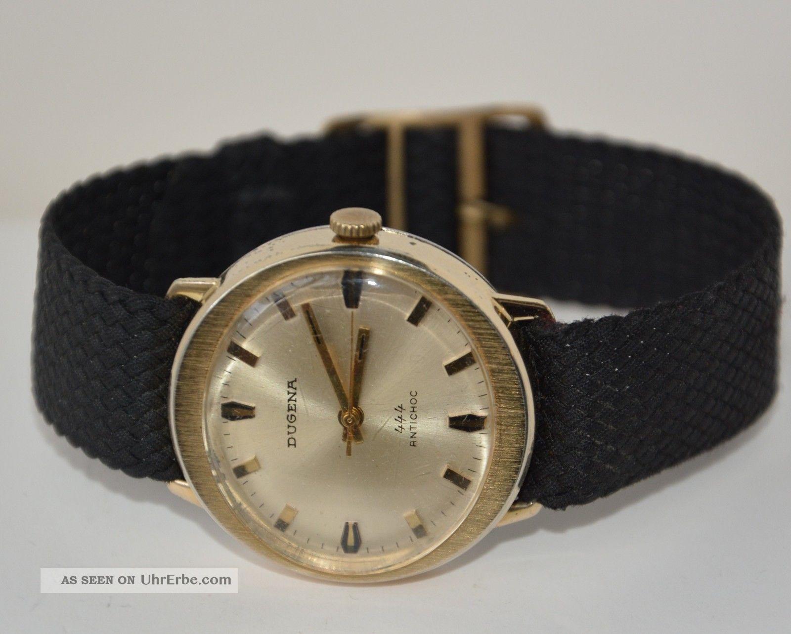 Dugena 444 Antischock 17 Jewels Cal.  2111.  Handaufzug Vintage Sammler. Armbanduhren Bild