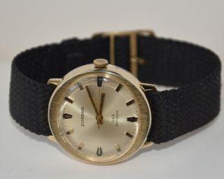 Dugena 444 Antischock 17 Jewels Cal.  2111.  Handaufzug Vintage Sammler. Bild