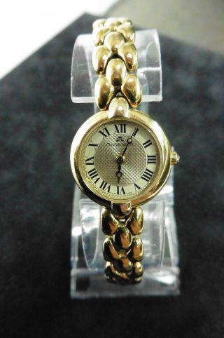 Maurice Lacroix Gold Dau Hau Damenuhr Luxus Klassisch Uhr Quarz Watch Vergoldet Bild