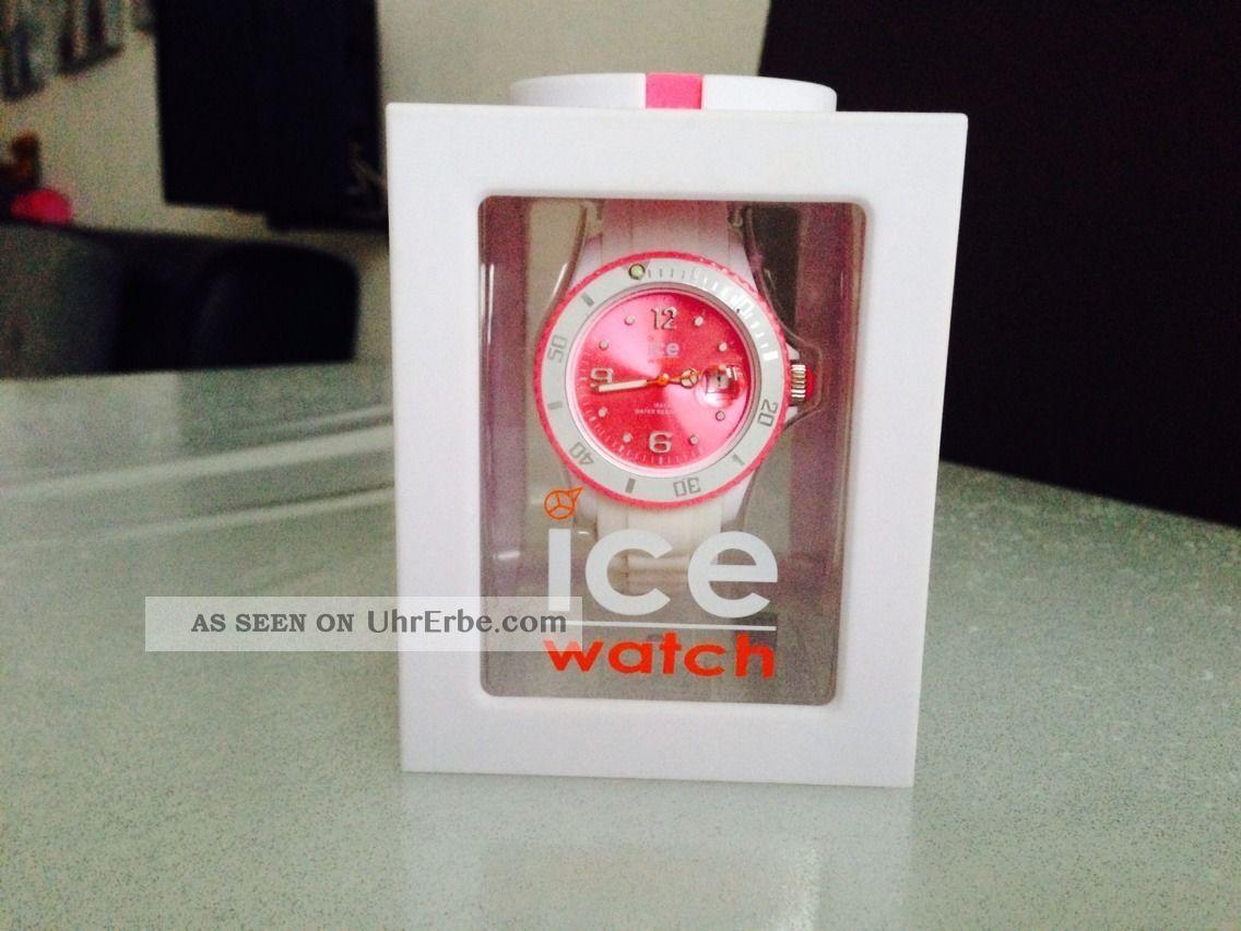 Ice Watch Damenuhr,  Armbanduhr Pink Weiss Armbanduhren Bild