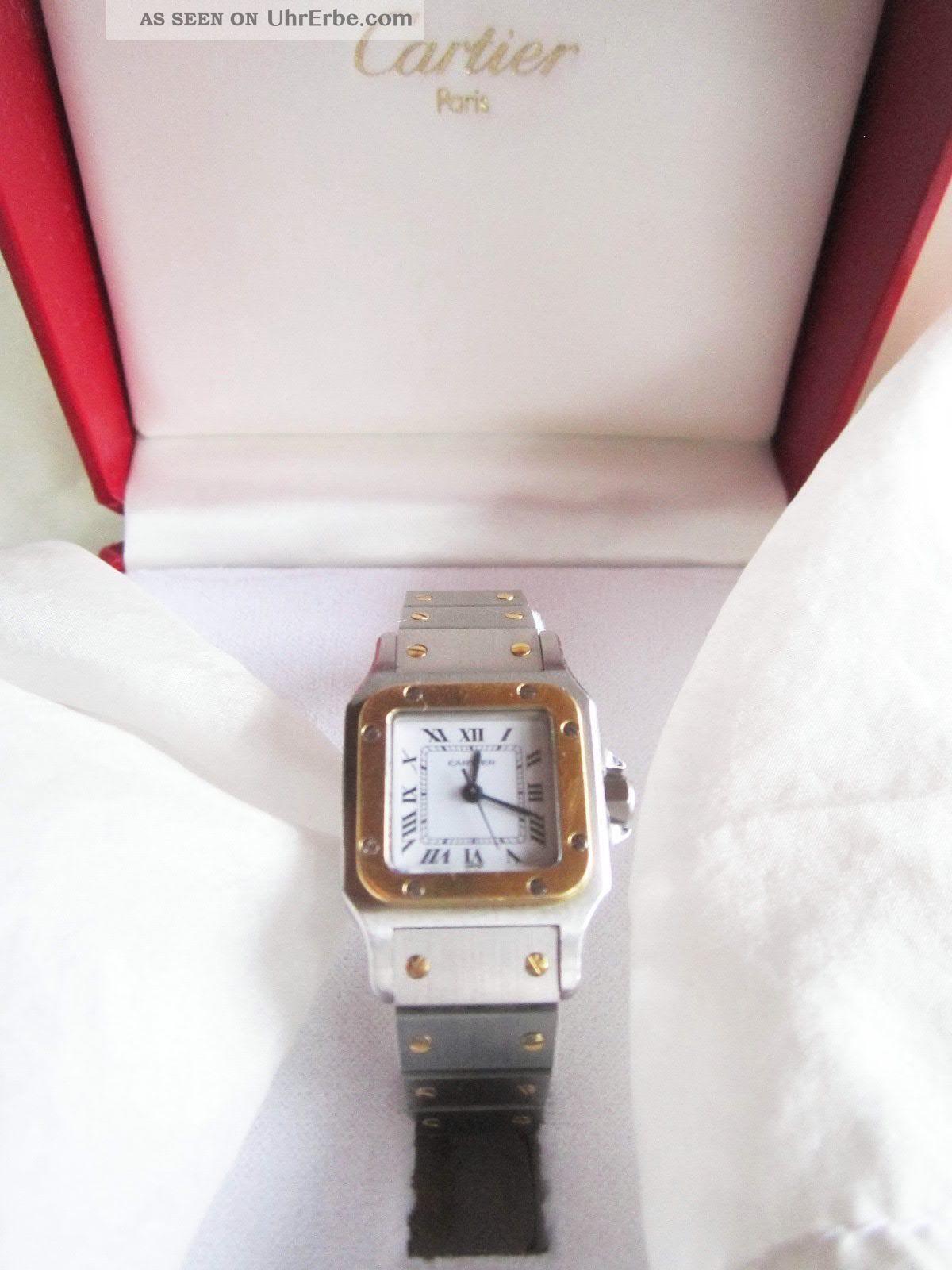 Cartier Damen - Uhr Mit - Zertifikat Modell Santos Automatik Armbanduhren Bild
