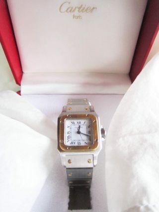 Cartier Damen - Uhr Mit - Zertifikat Modell Santos Automatik Bild