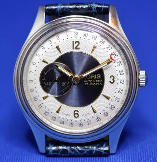 Oris Pointer Date Automatik Armbanduhr Uhr Kal.  640 / 27 Jewels Bild