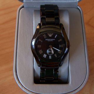 Armani Ar1402 Armbanduhr Uhr Keramik Keramikuhr Ceramica Schwarz Lp 499€ Bild