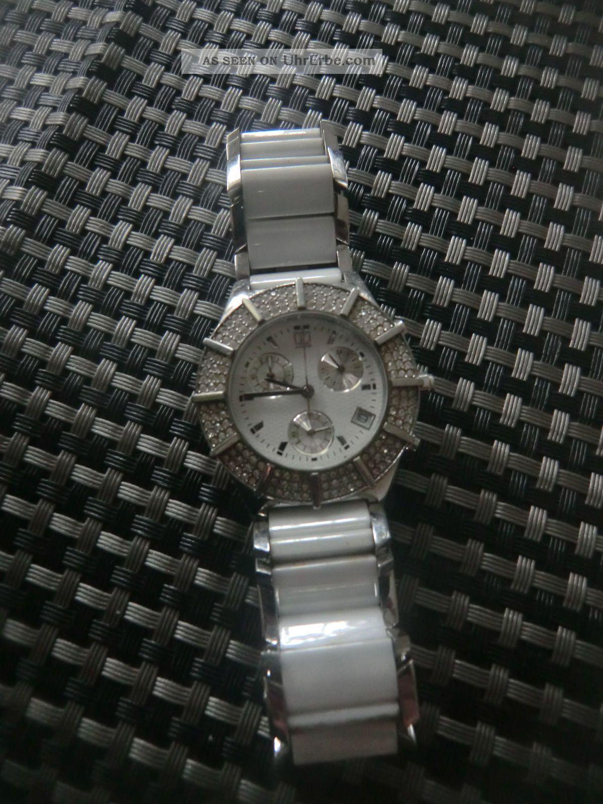Jette Joop Damenuhr Weiß Mit Zirkonia Armbanduhren Bild