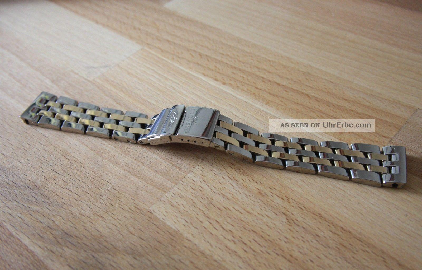 Breitling Sirius Pilotband In Edelstahl / 18k Gelbgold Armbanduhren Bild