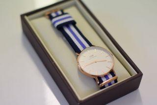 Daniel Wellington Uhr Armbanduhr Sailor Streifen Classic Trinity Chronograph Bild