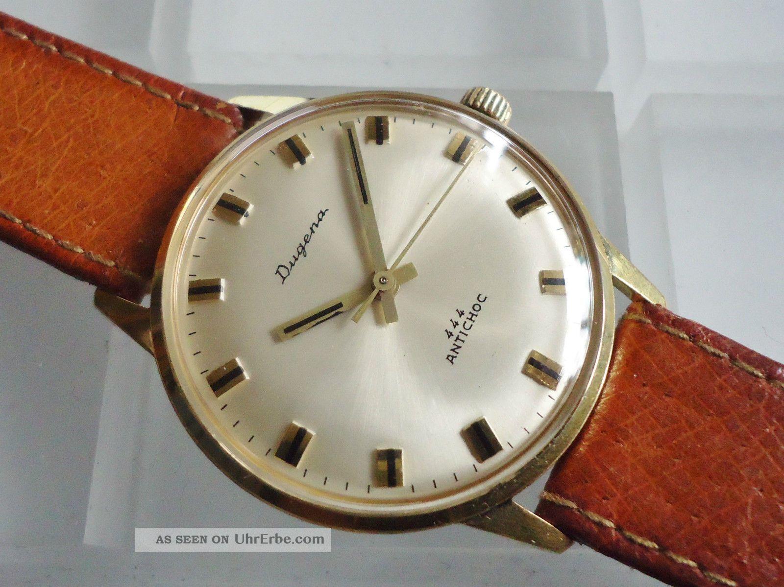 Dugena 444 Handaufzug Bifora Cal.  115 (dug.  981) Armbanduhren Bild