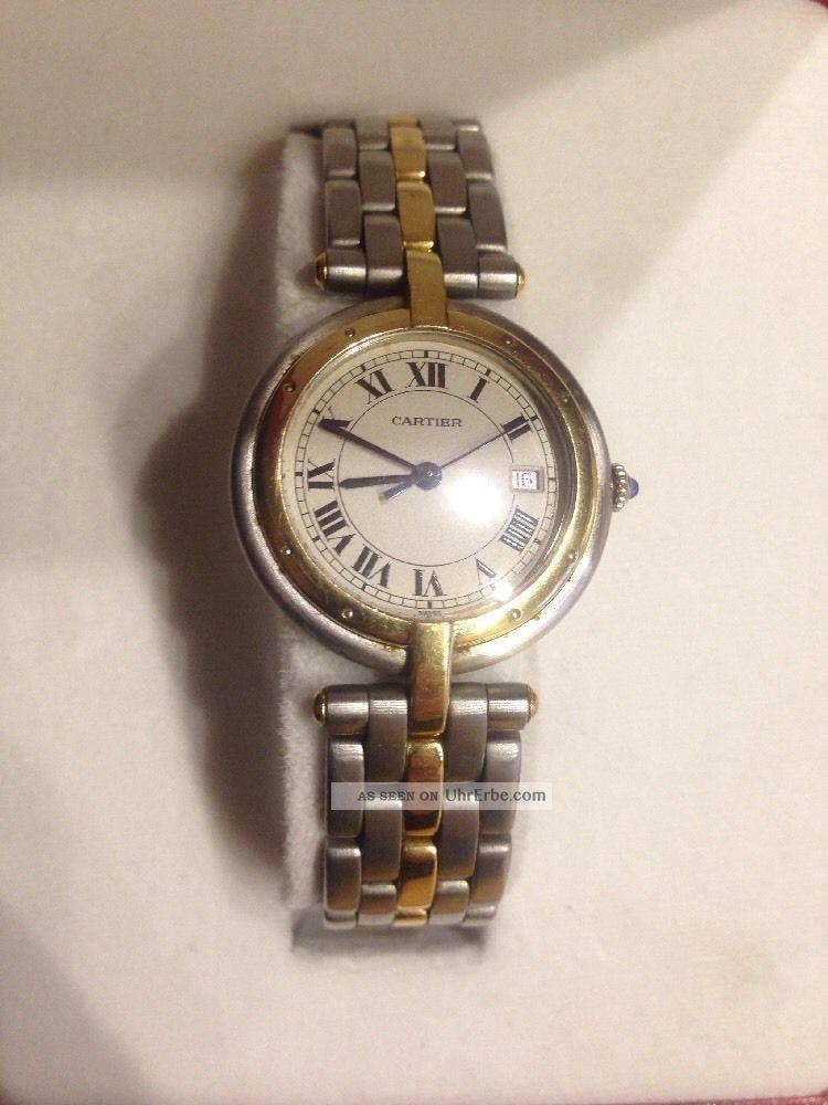 Cartier Panthere Ronde Stahl Gold Mit Datum 29mm Armbanduhren Bild
