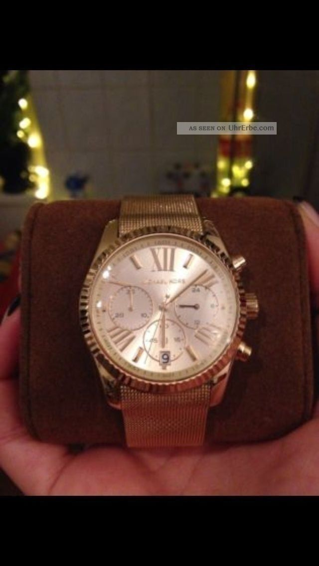 Michael Kors Damenuhr Mk 5938 In Gold Edelstahl 38mm Armbanduhren Bild