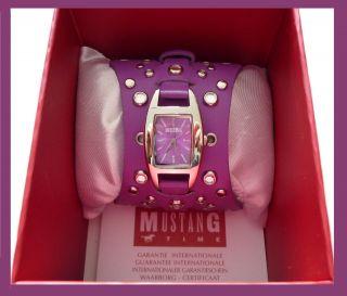 Damen Uhr Mustang Mit Nieten Lila Bild