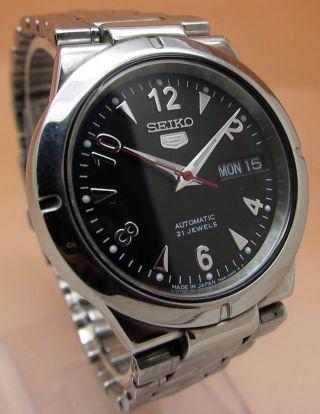 Seiko 5 Durchsichtig Automatik Uhr 7s26 - 01z0 21 Jewels Datum & Taganzeige Bild