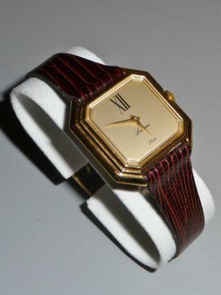 Damen Armbanduhr Lucerne Swiss - Handaufzug & Lederarmband - Ca.  1970er Jahre Bild