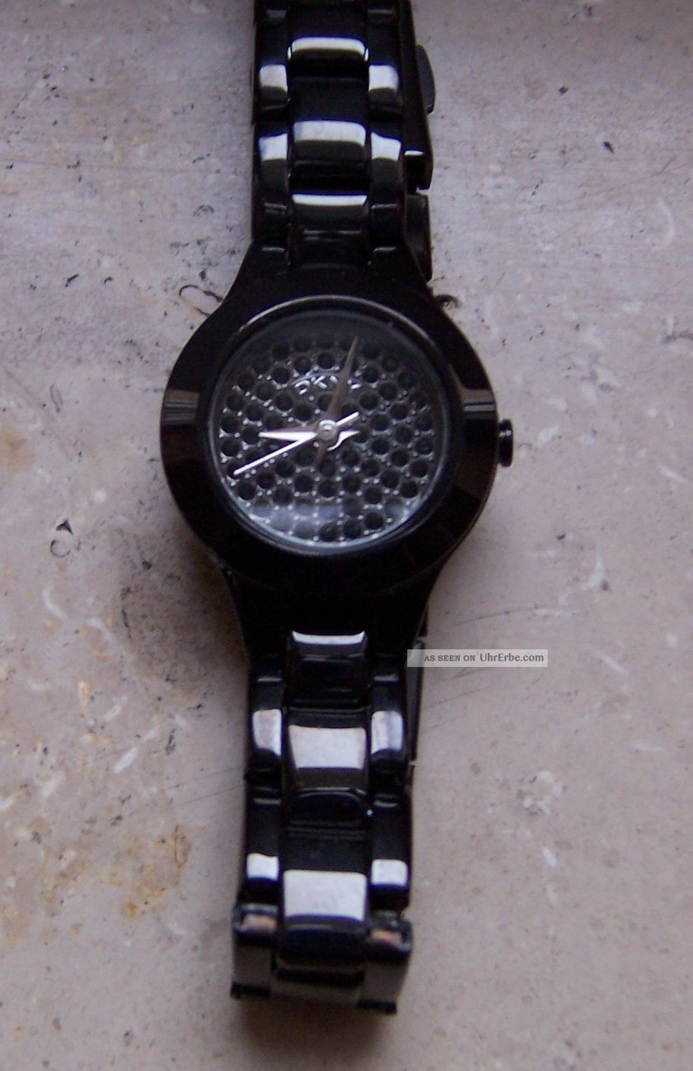 Dkny Ny8693 Armbanduhr Uhr Schmal Edelstahl Kristall Steine Schwarz Lp 179€ Armbanduhren Bild